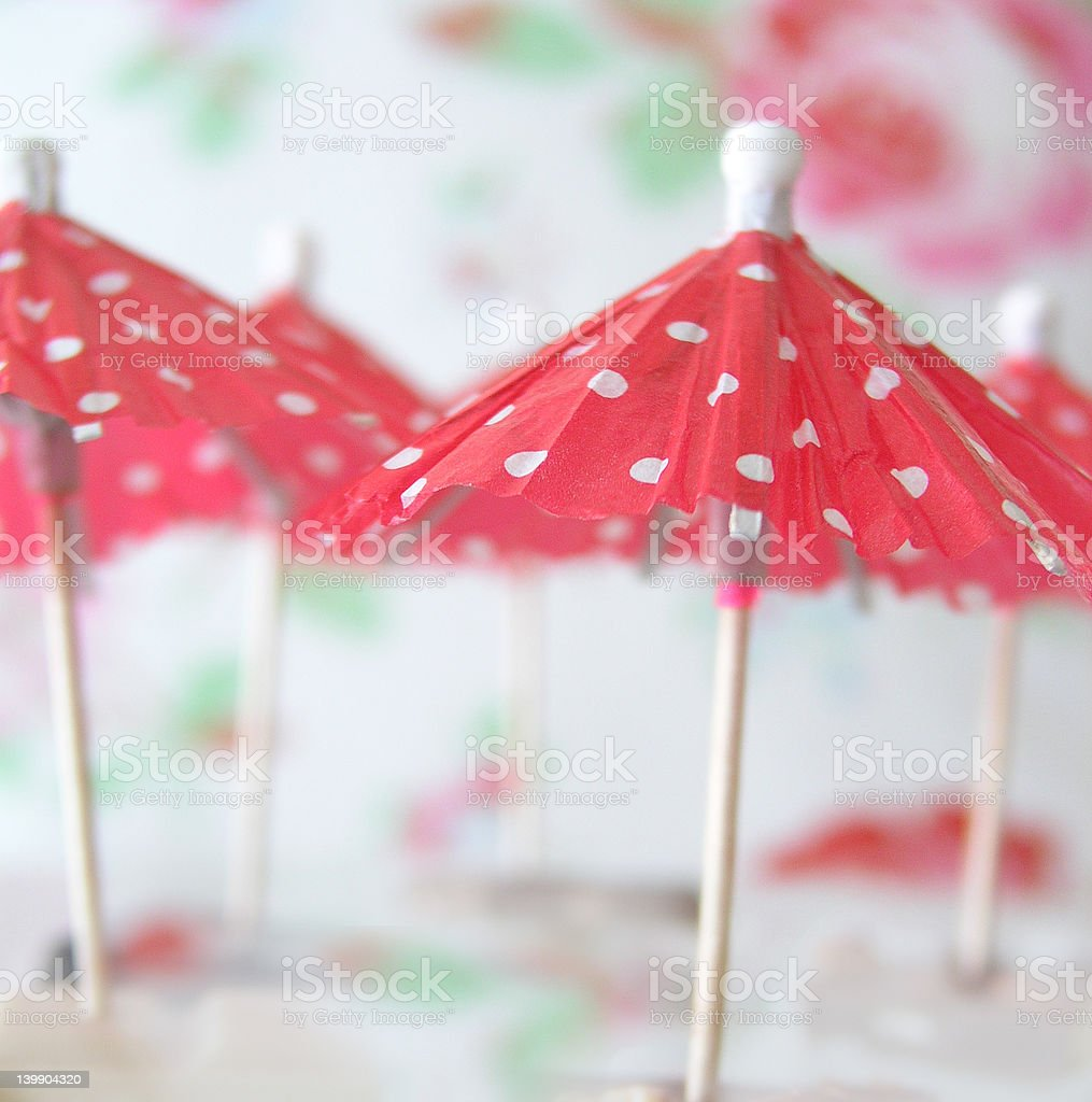 pink cocktail umbrellas royalty-free stock photo