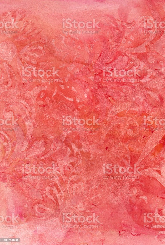 Pink colored background with subtle lace texture stock photo