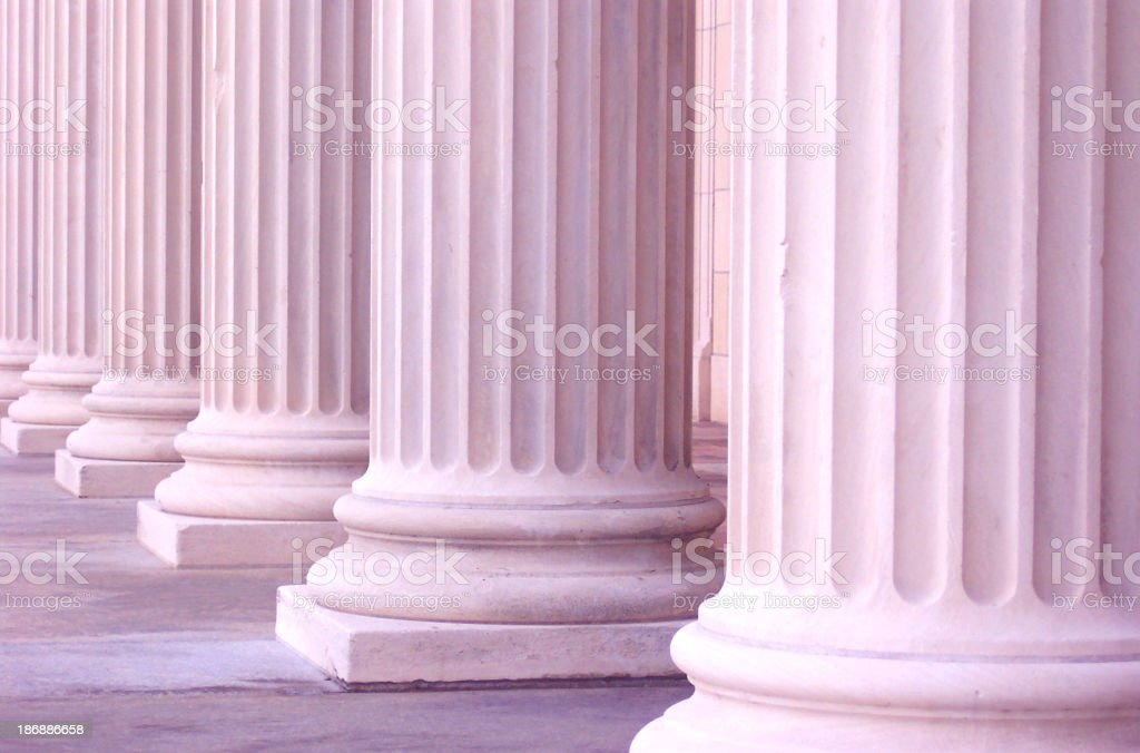 Pink Columns royalty-free stock photo