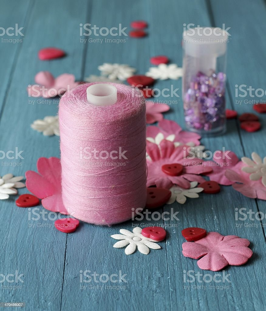 Pink Craft materials royalty-free stock photo