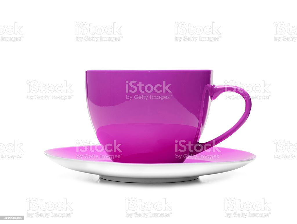Pink cup stock photo