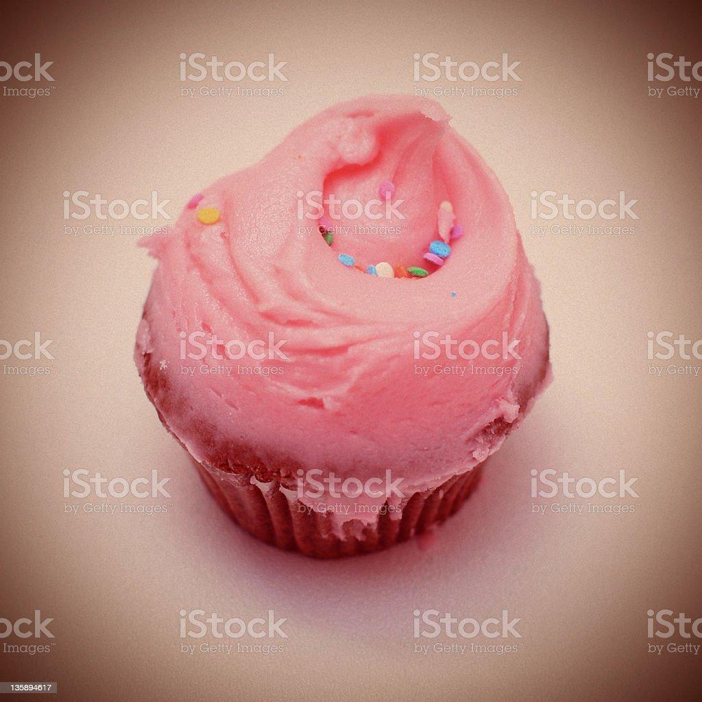 Pink Cupcake - Lomography royalty-free stock photo