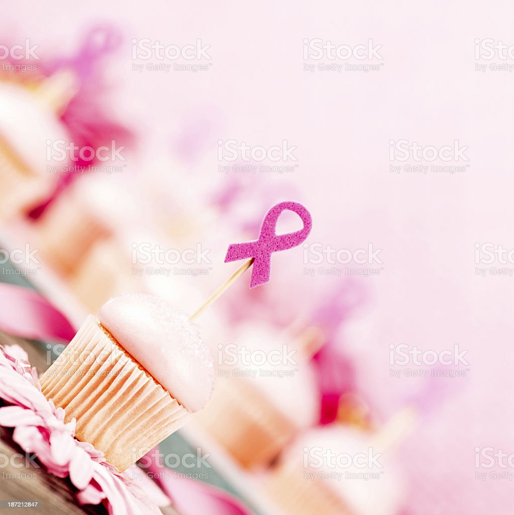 Pink Cupcakes For Breast Cancer Awareness Fundraiser royalty-free stock photo