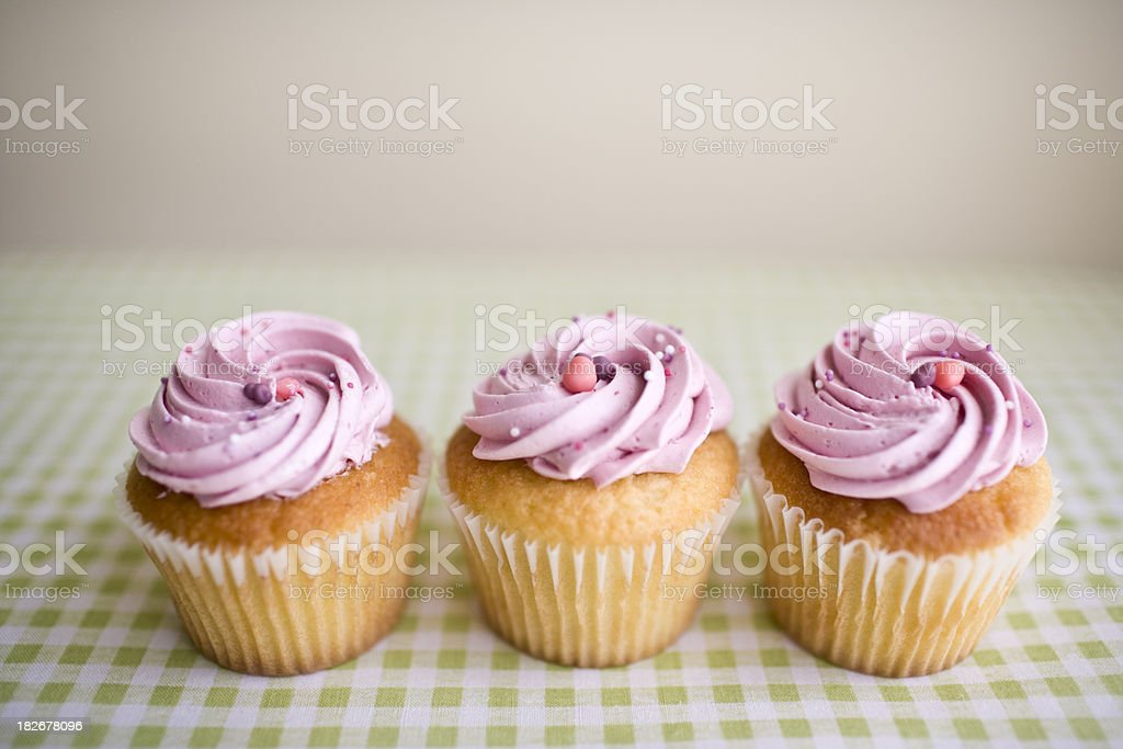 Pink Cupcakes royalty-free stock photo