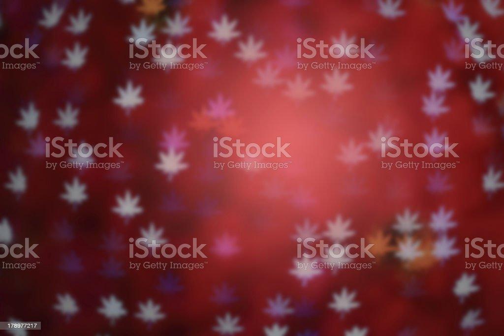 pink defocused maple leaves background, blur focus royalty-free stock photo