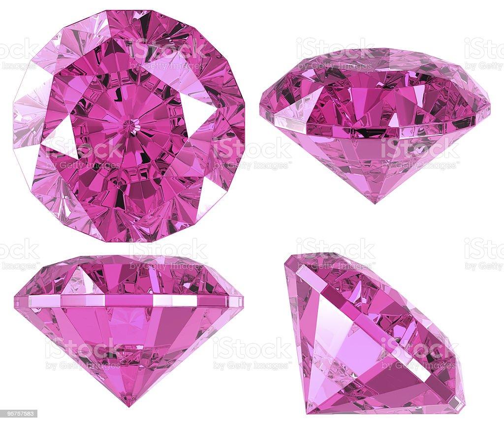 Pink diamond (4 positions) stock photo