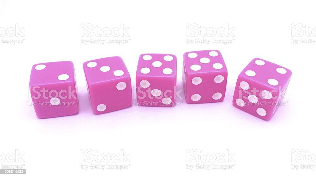 Pink Dice stock photo