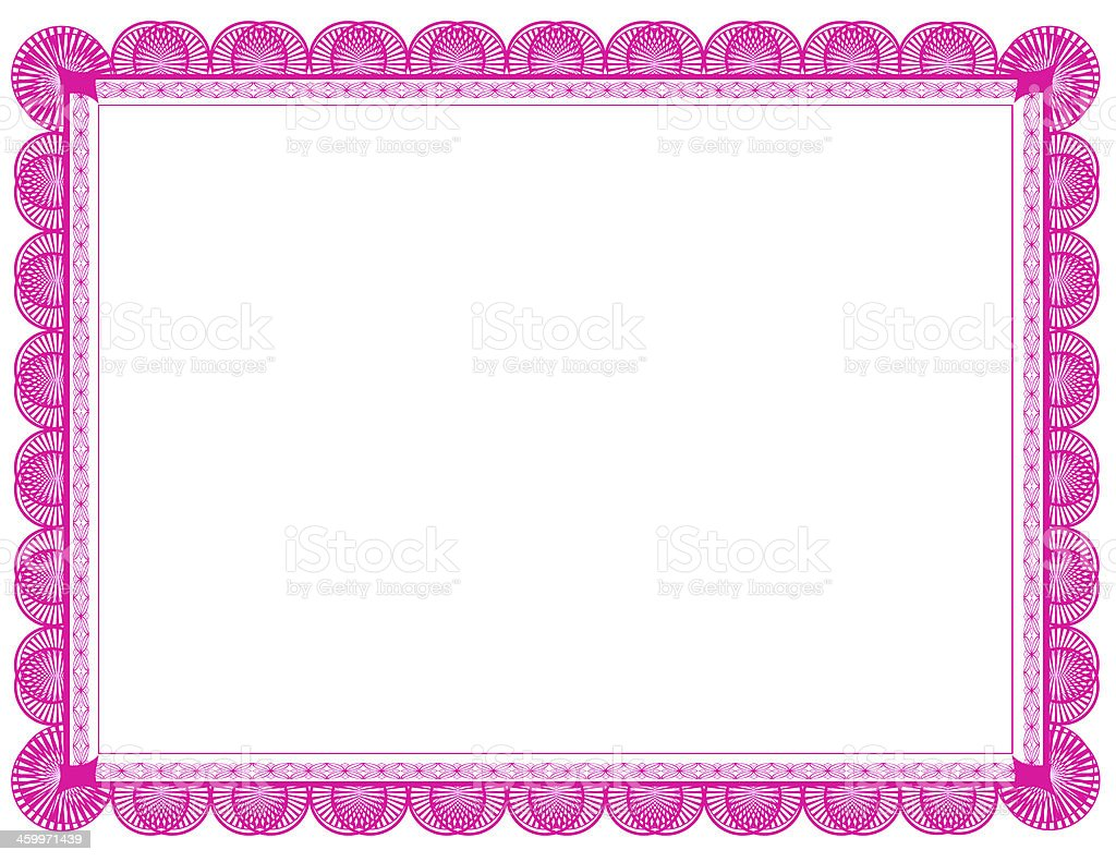 pink document frame 85 x 11 royalty free stock photo