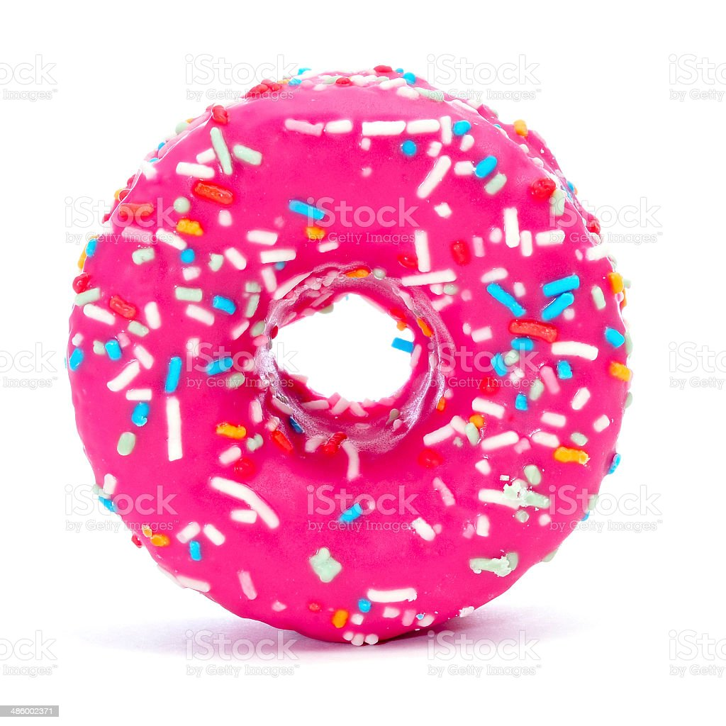 pink donut stock photo
