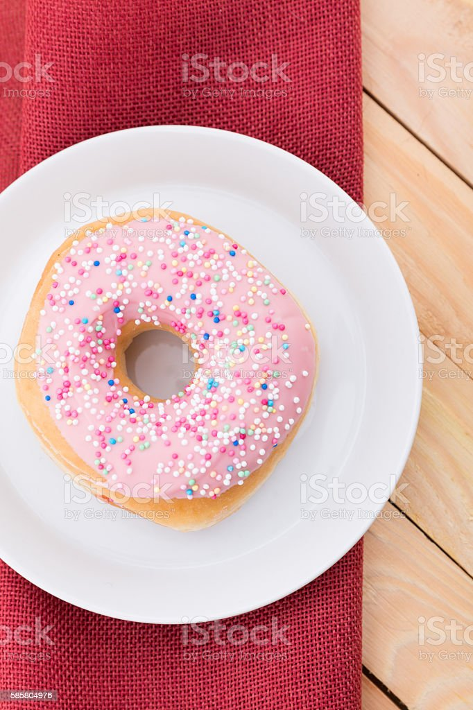 pink donuts stock photo
