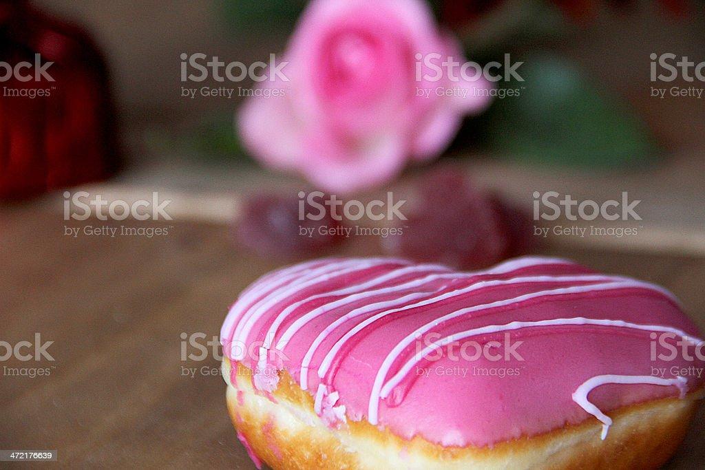 Rosa ciambella e rosa foto stock royalty-free