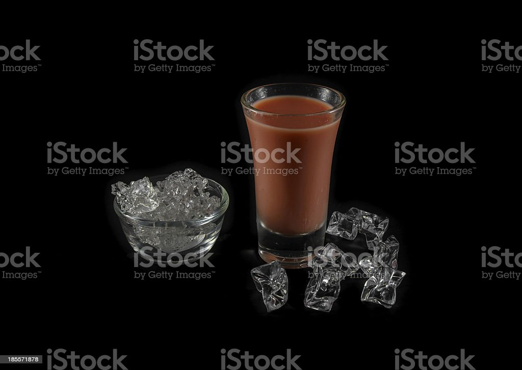 pink drink and ice royalty-free stock photo
