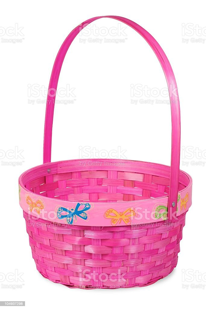 Pink Easter Basket stock photo