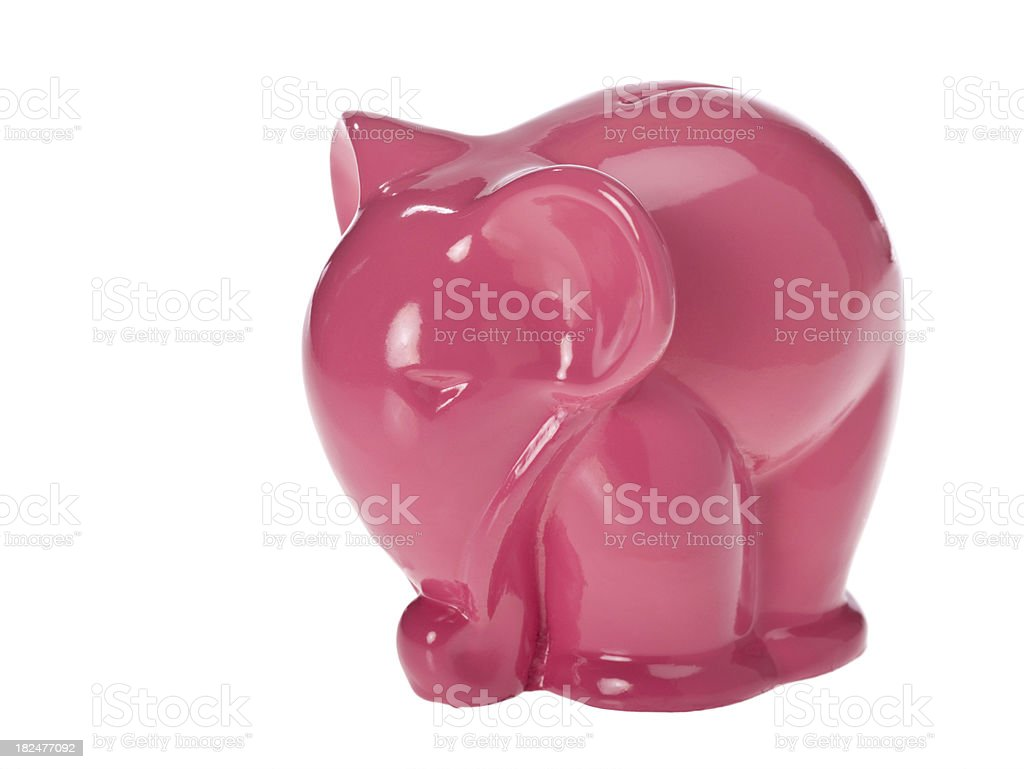 Pink elephant coin bank royalty-free stock photo