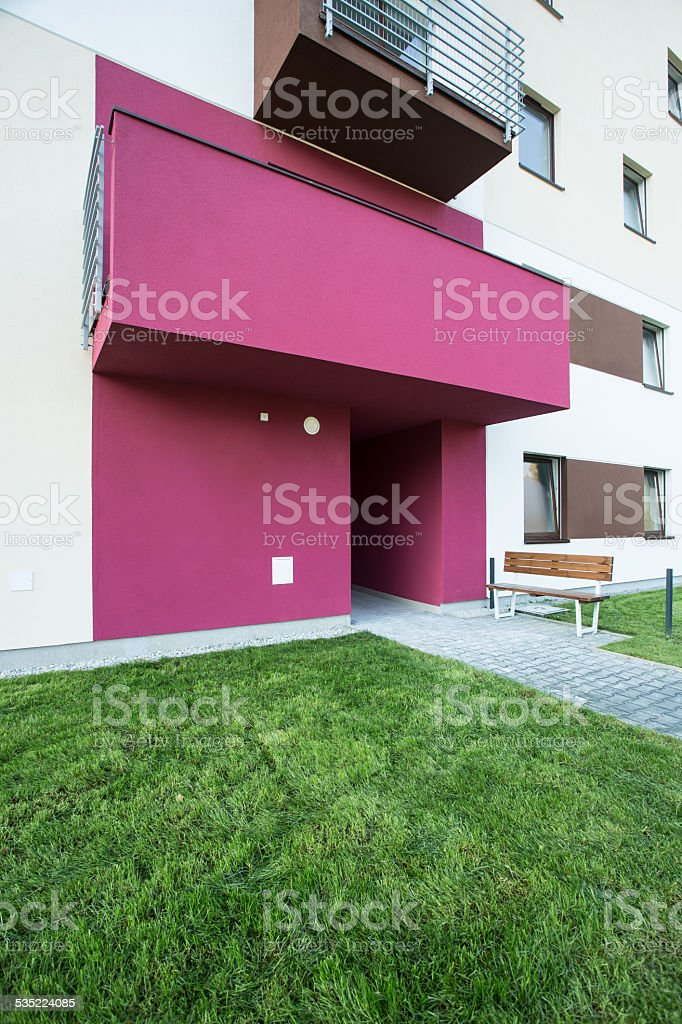Pink entrance stock photo