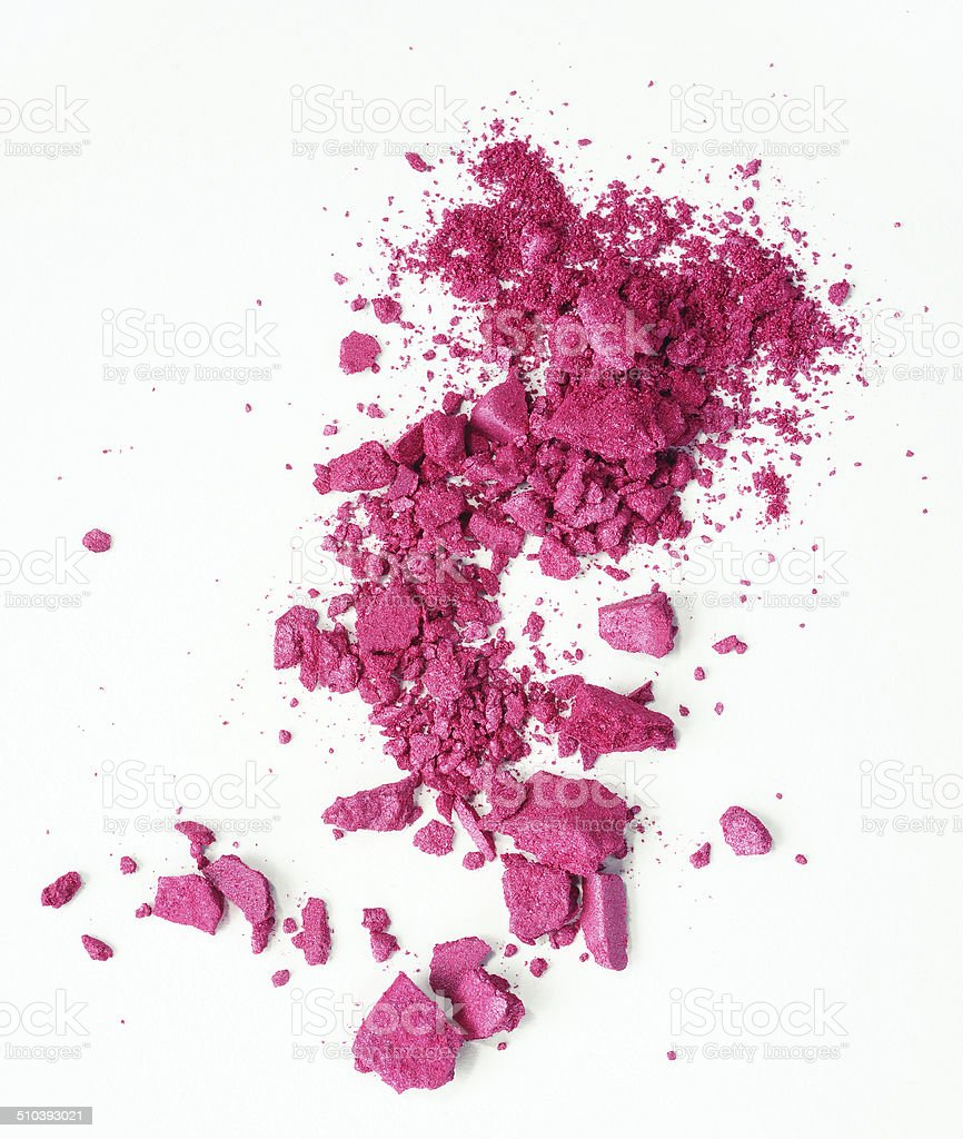 pink eyeshadow stock photo