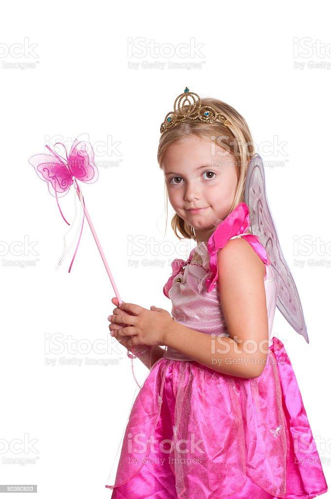 Pink fairy princess. stock photo