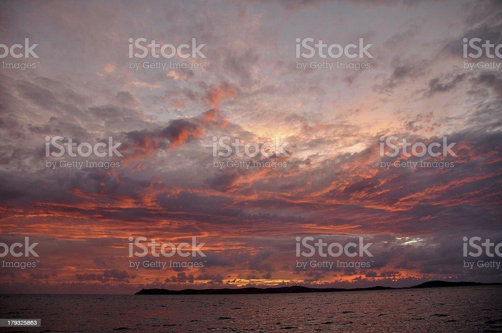 Pink Fiji Sunrise royalty-free stock photo