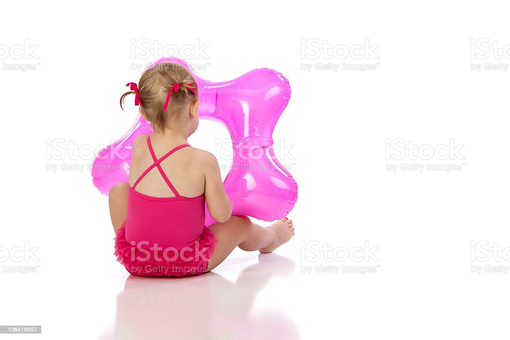 Pink Float for Pool Time royalty-free stock photo