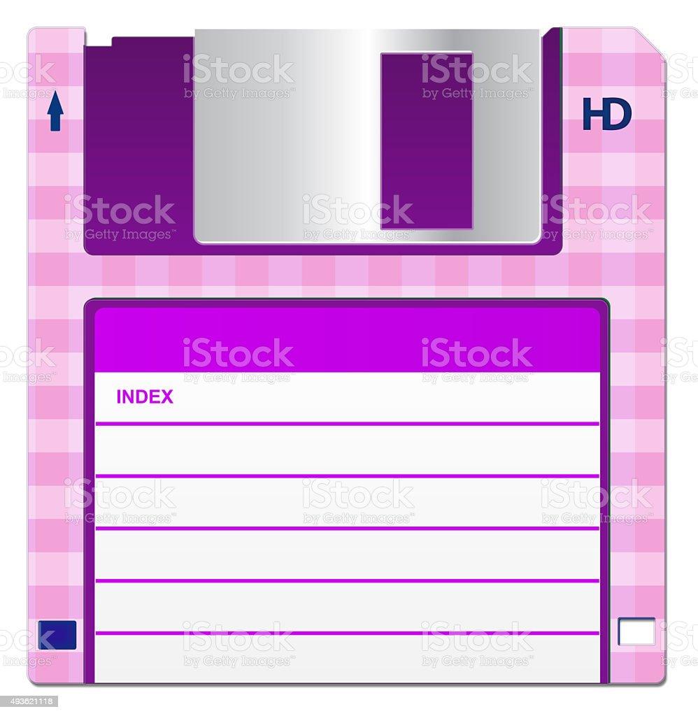 Pink Floppy Disk stock photo