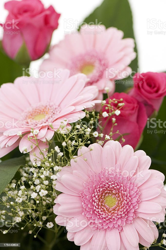 Pink Flowers Bouquet royalty-free stock photo