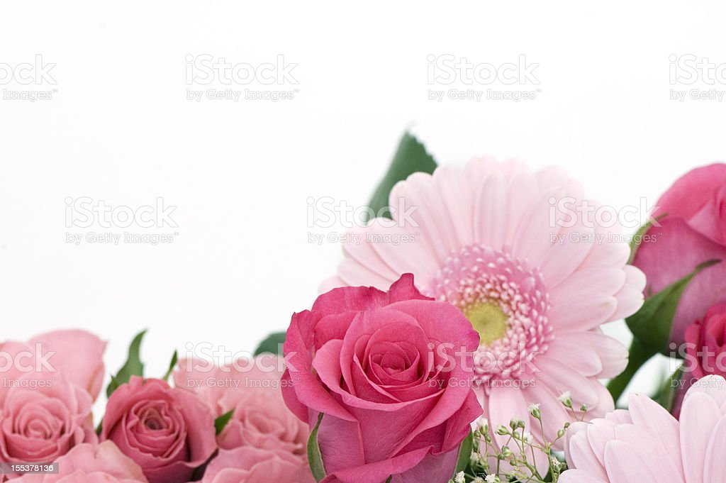 Pink Flowers Frame stock photo