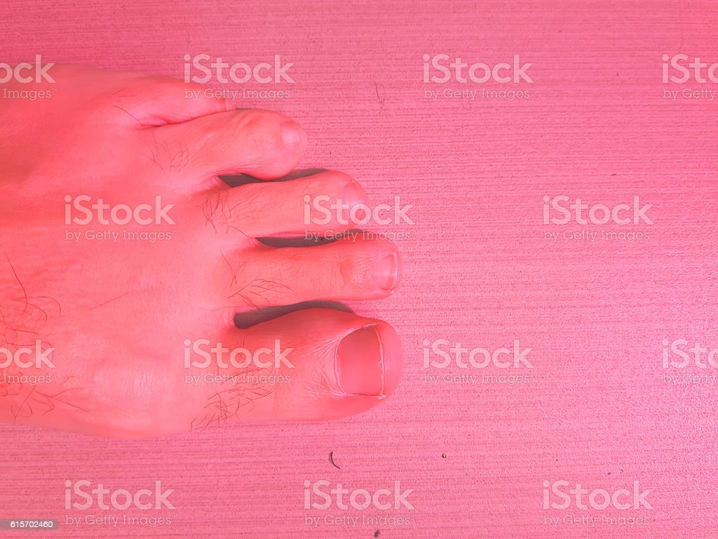 pink foot stock photo
