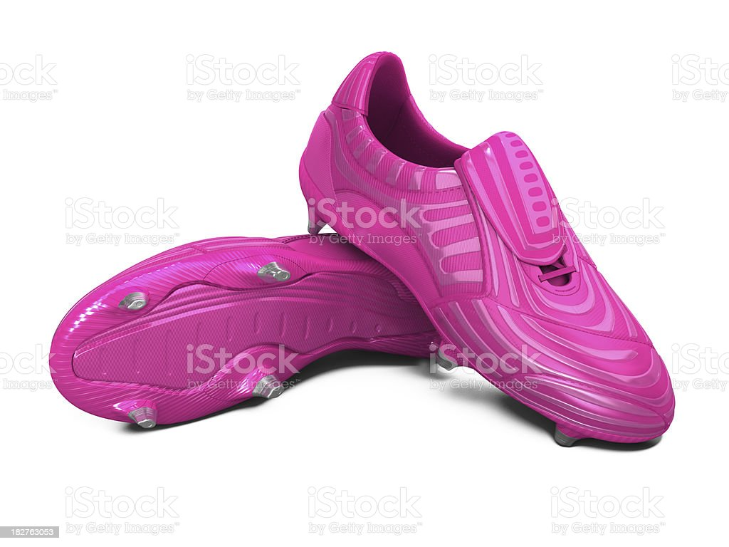 Pink Football Boots stock photo