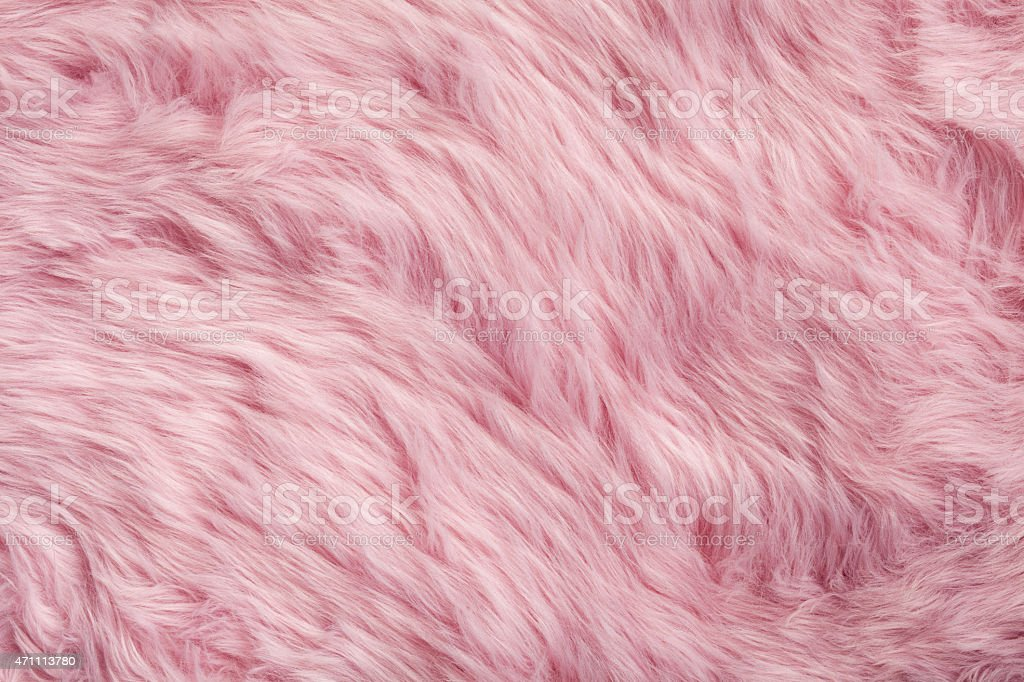 Pink fur background stock photo