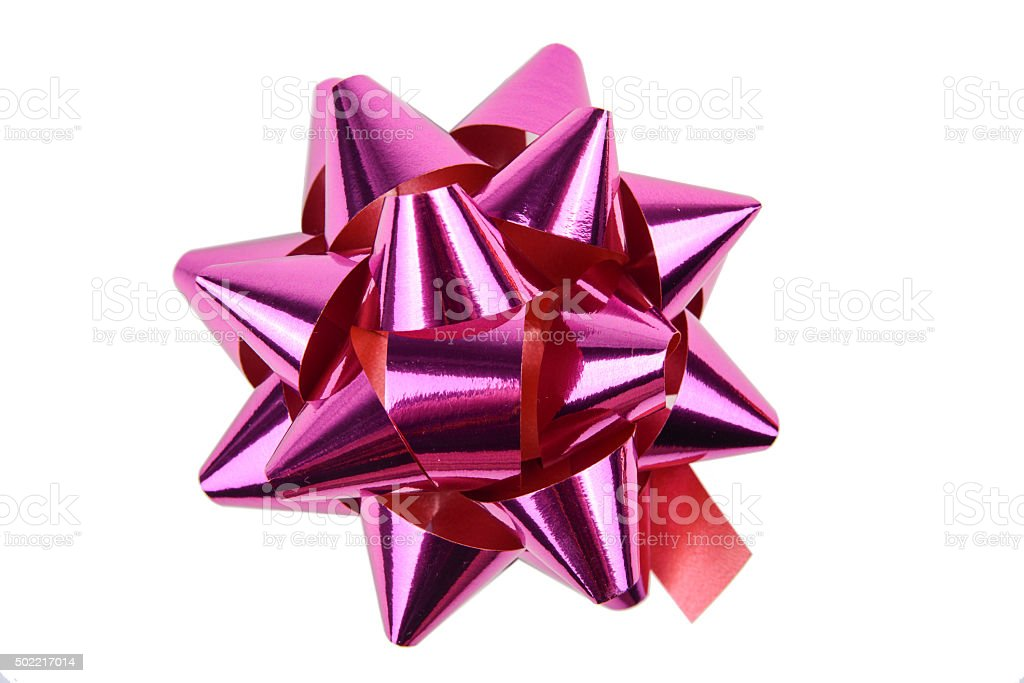 Pink Gift Bow stock photo