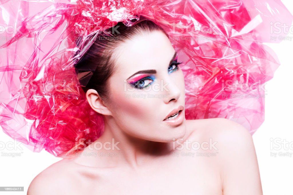 Pink Gift Wrap Beauty royalty-free stock photo