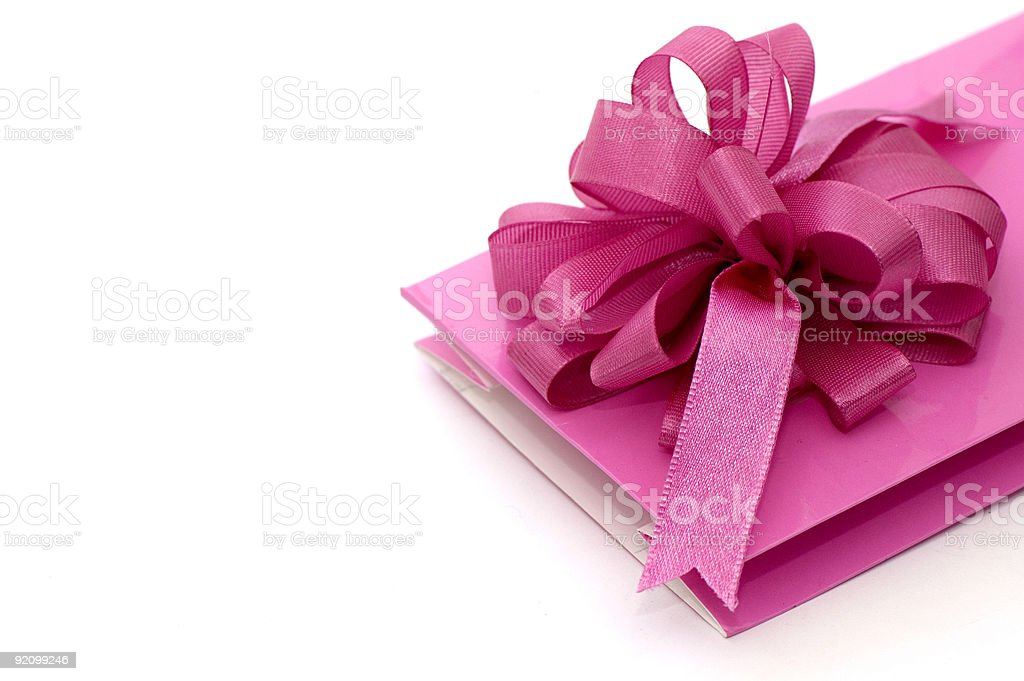 Pink Gift Wrapping royalty-free stock photo