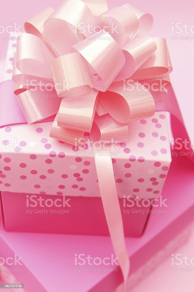 Pink Gifts royalty-free stock photo
