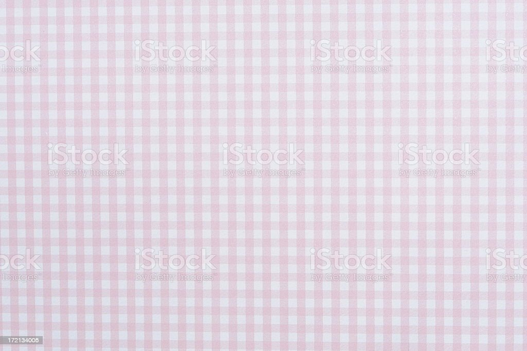Pink Gingham Paper Texture royalty-free stock photo