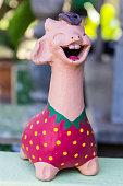 Pink Giraffe Statue