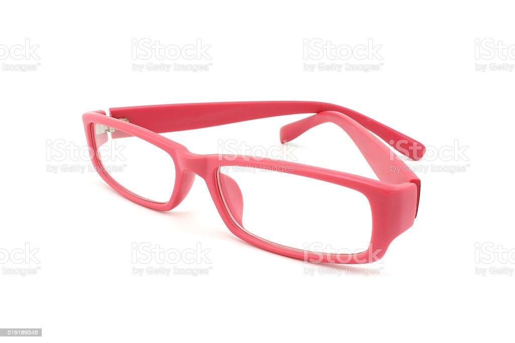Pink glasses stock photo