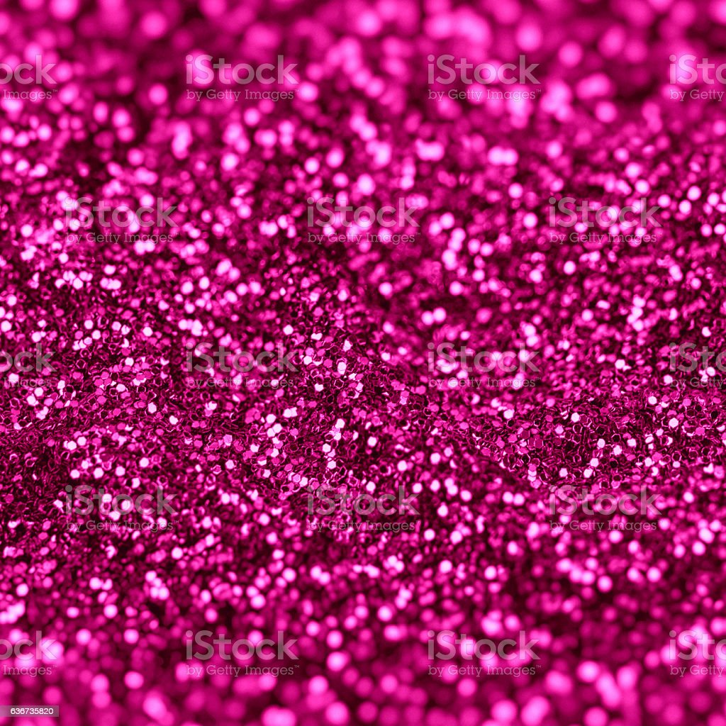 Close up of pink glitter full frame.