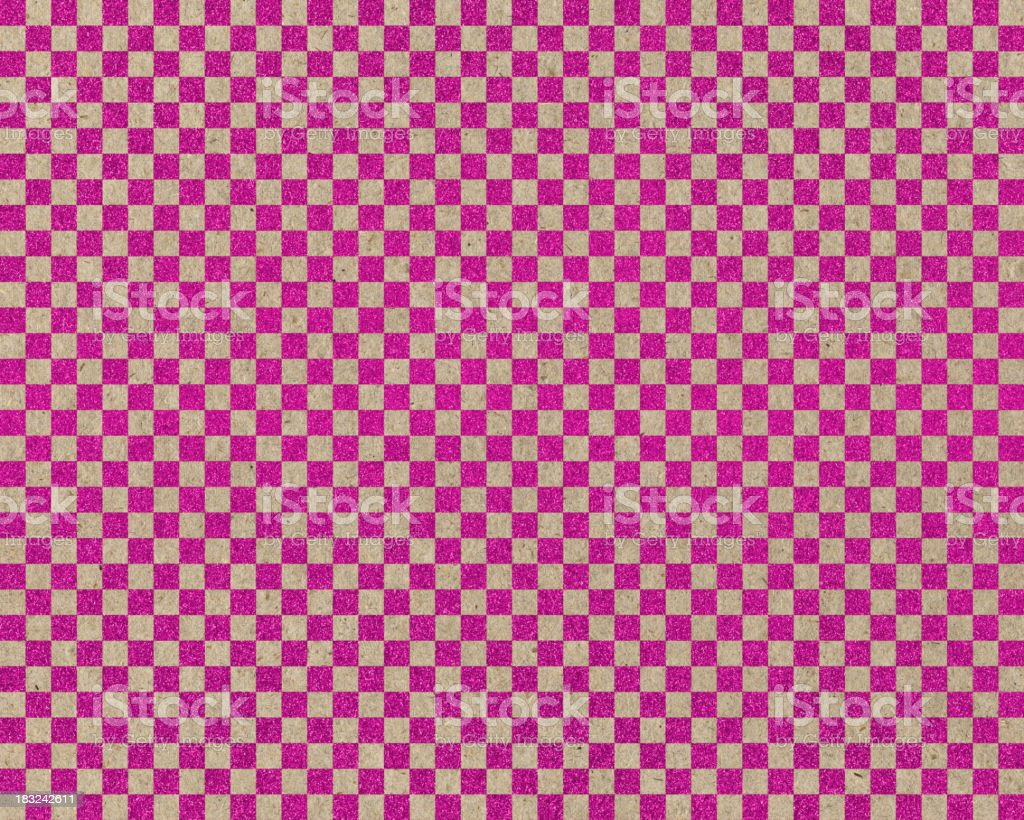 pink glitter checked paper royalty-free stock photo