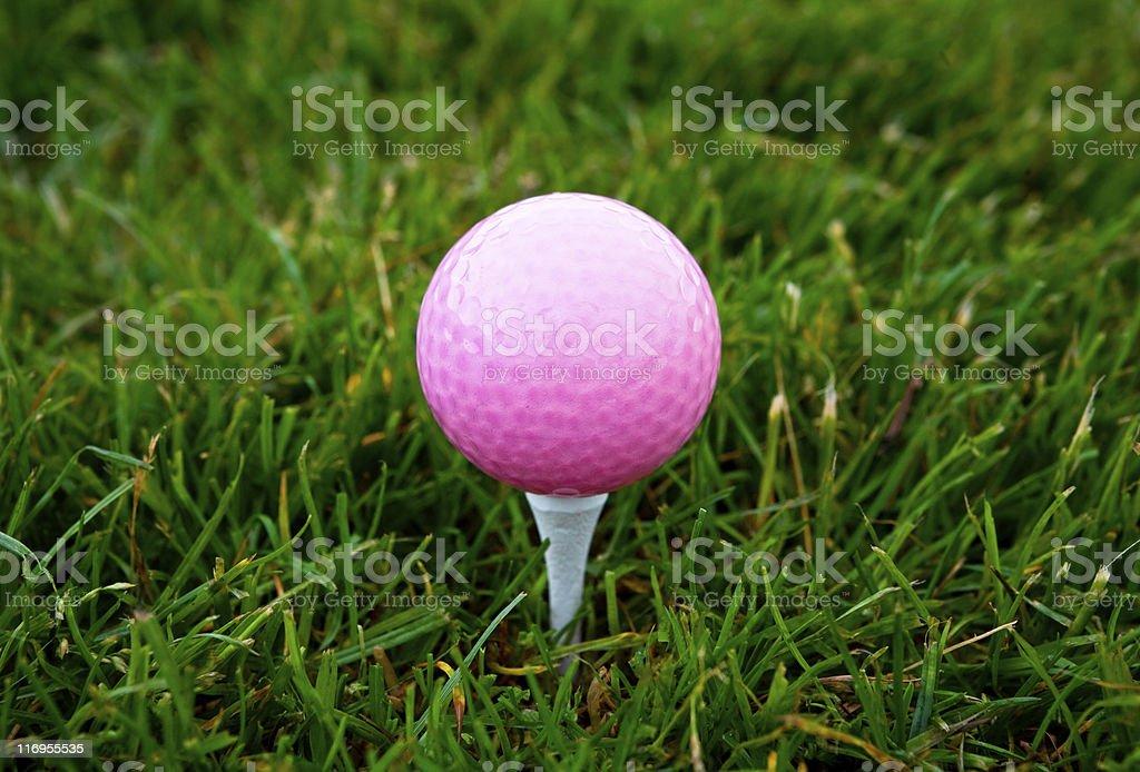 Pink Golf Ball stock photo