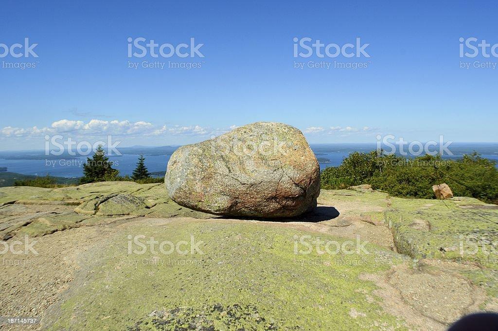 Bloc de granit rose photo libre de droits