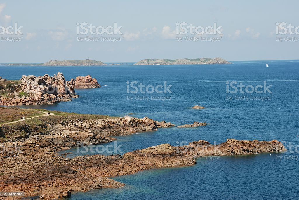 Pink Granite Coast stock photo