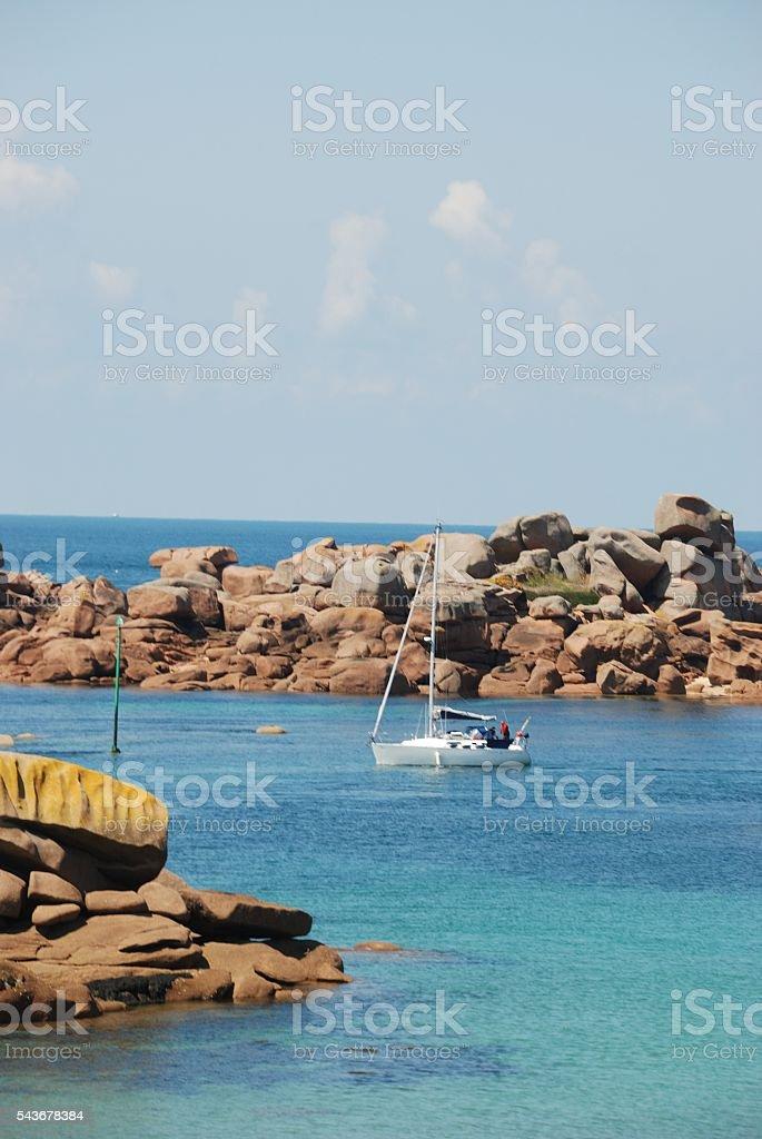 Pink Granite Coast stock photo