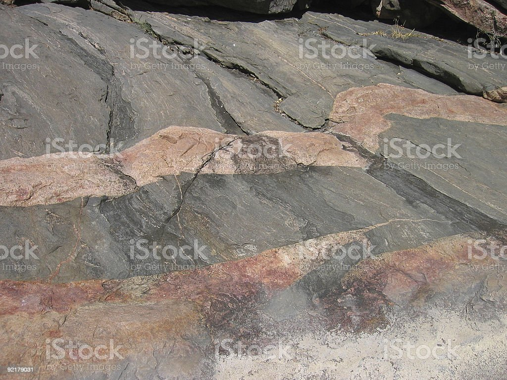 Pink Granite Veins - Texas royalty-free stock photo