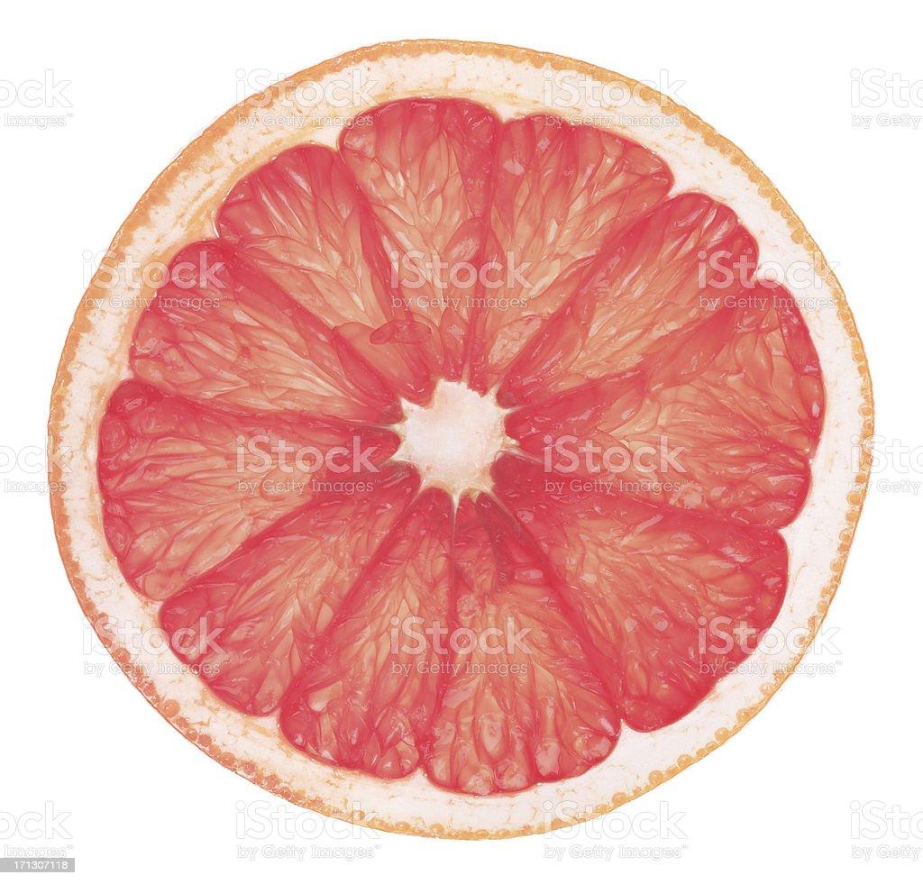 Pink Grapefruit Slice High Definition stock photo