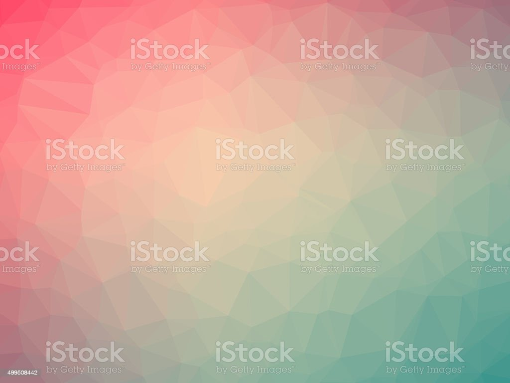 Pink green gradient polygon shaped background stock photo