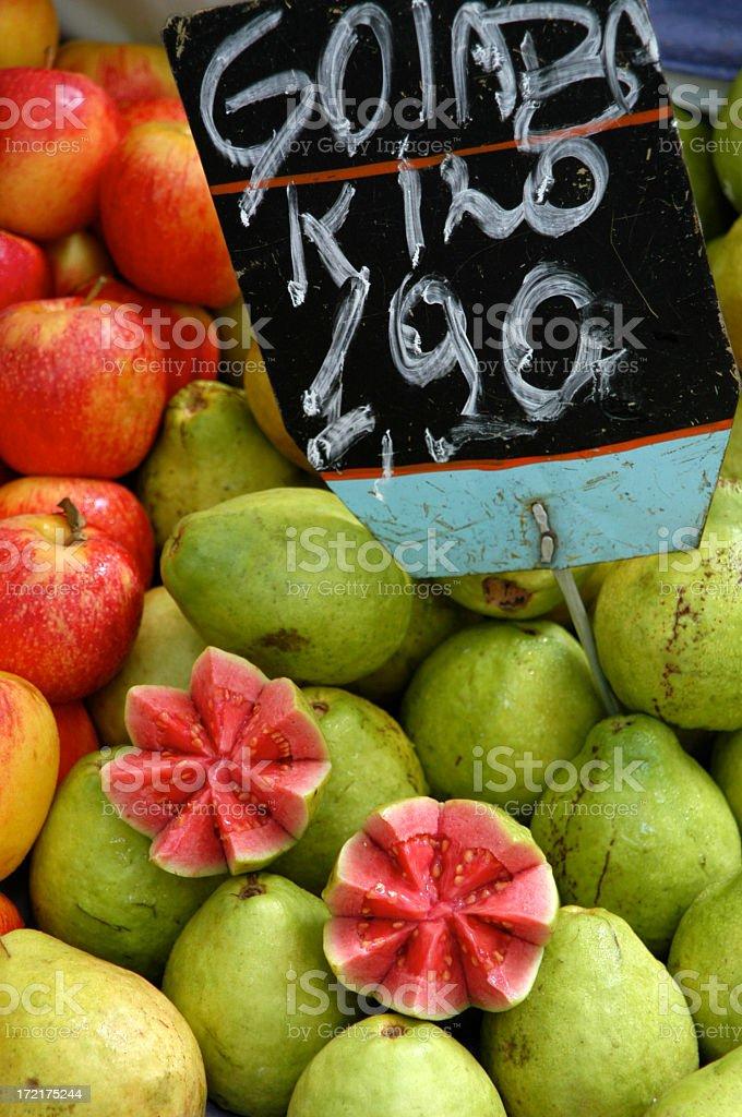 Pink Guava at Brazilian Fruit Farmer Market Rio de Janeiro stock photo
