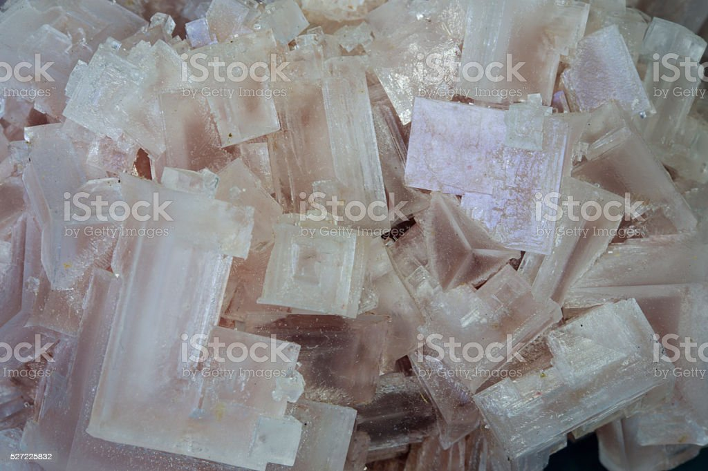 Pink Halite or rock salt stock photo