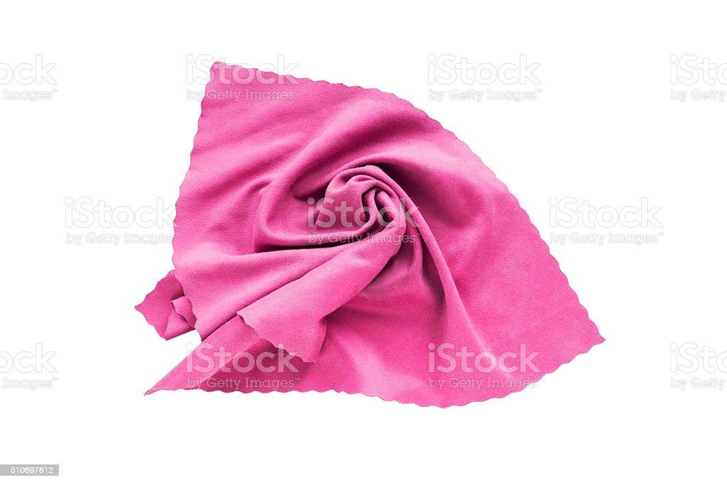 Pink handkerchief stock photo