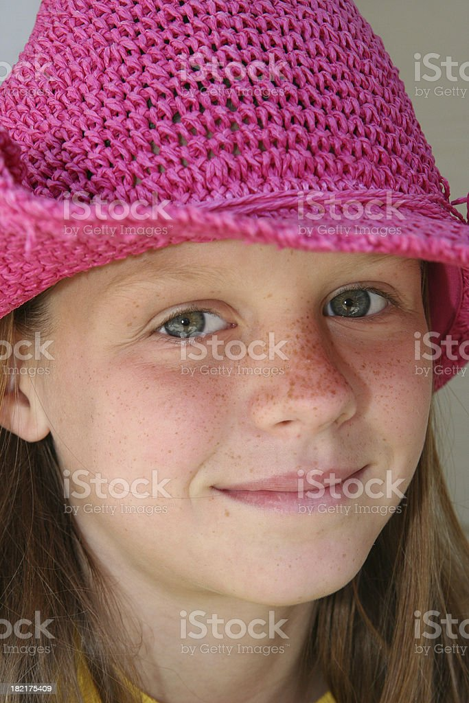 Pink Hat royalty-free stock photo