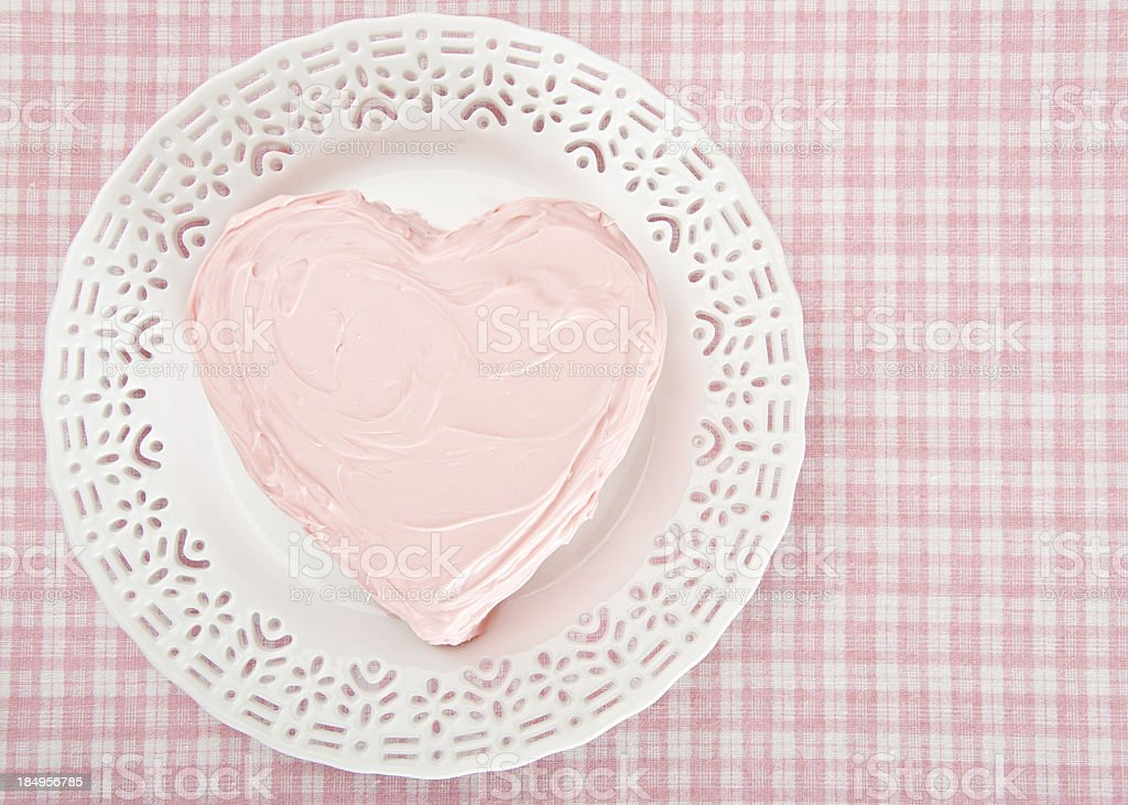 Pink Heart Cake stock photo
